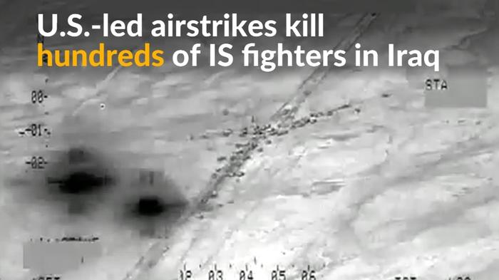 U.S.-led airstrikes kill hundreds of IS fighters in Iraq