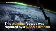 Stunning aurora footage captured from ISS