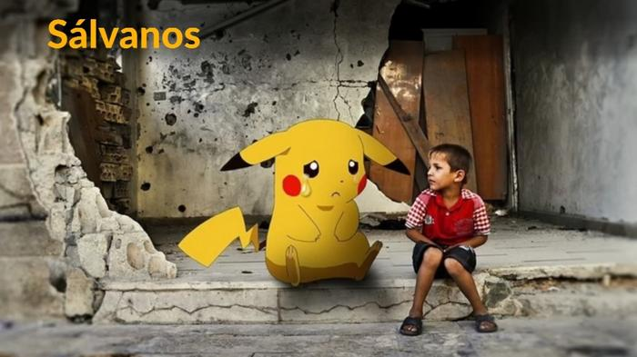 Save us, say Syrian children holding Pokemon pictures