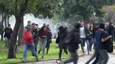 Clashes break out during student protest