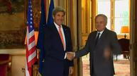Kerry, Ayrault meet to discuss NATO, Russia