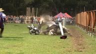 Thrills and spills at Australia's jousting tournament
