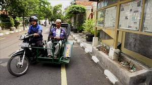 Indonesia's disabled motorbike taxi service