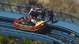 Riders rescued after roller coaster drama