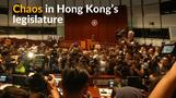 Chaos in Hong Kong's legislature