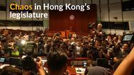 Chaos in Hong Kong's legislature