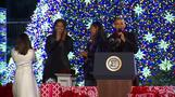Last Christmas tree lighting for Obama