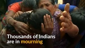 Thousands of Indians mourn charismatic leader