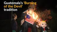 Guatemala devil burning ceremony takes on Trump