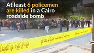 Deadly blast targets policemen in Cairo