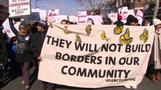Thousands of immigrants skip work, protest against Trump