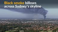 Firefighters battle blaze at Australian recycling plant