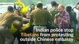 Tibetans march towards Chinese embassy in Delhi
