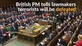 British PM says terrorism will not prevail