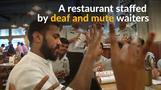 Diners use sign language at this Indian restaurant