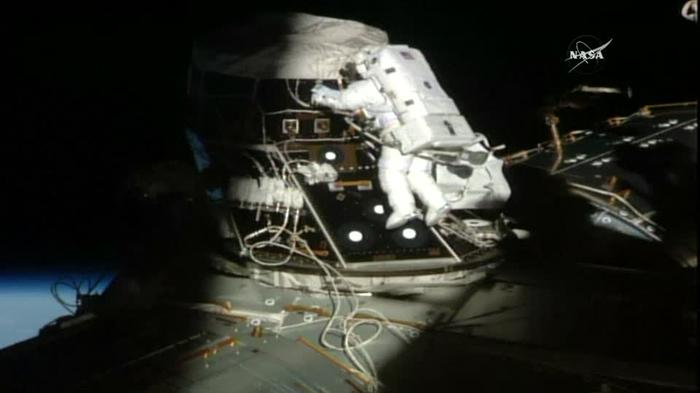 Spacewalk underway for ISS home improvement