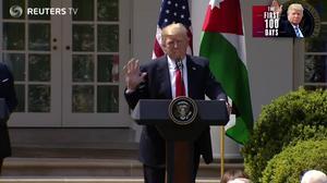100 days: World leaders meet Trump's presidency