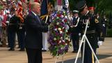 Trump lays wreath at Arlington Cemetery