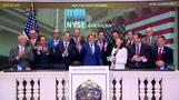 Nasdaq hits record, J&J drags Dow