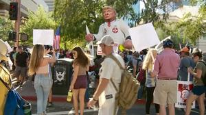 Protesters converge in Phoenix ahead of Trump's speech