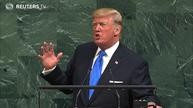 Trump rattles U.N. with threat to destroy North Korea