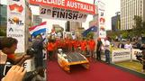 Nuon Solar win the 2017 World Solar Challenge
