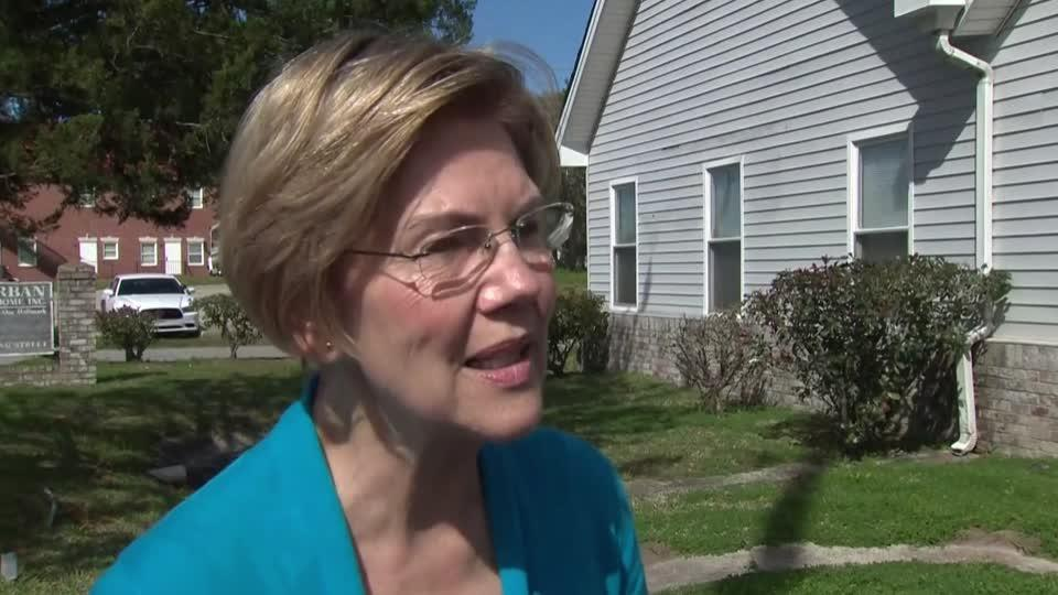 Warren slams Trump for trying to shift money to fund border wall