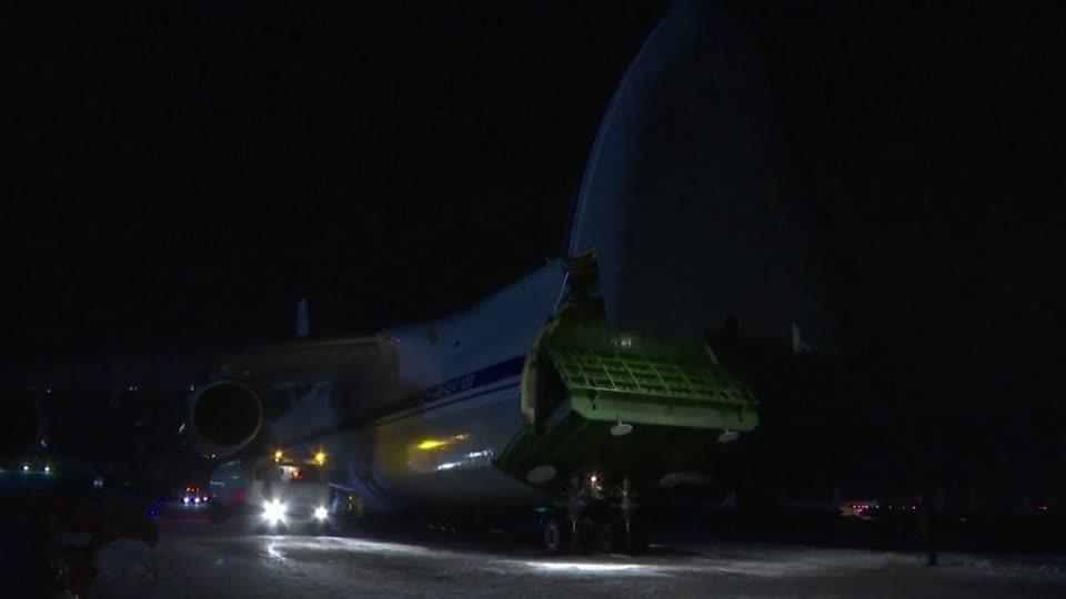 Russian plane sets off for U.S. with virus help onboard - state TV