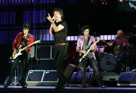 File photo shows The Rolling Stones rehearsal for their upcoming ''A Bigger Bang'' 2005 World Tour, August 3, 2005 in Toronto Canada. REUTERS/Frank Micelotta/Getty Images/Handout