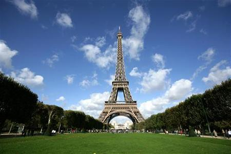 A view of the Eiffel Tower in a file photo. The French dislike themselves even more than the Americans dislike them, according to an opinion poll published on Friday. REUTERS/Mal Langsdon