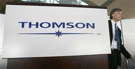 Thomson Corporation Chairman David Thomson arrives at their annual meeting of shareholders in Toronto May 2, 2007. REUTERS/J.P. Moczulski