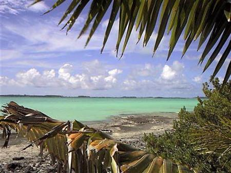 File photo of Turtle Cove on Diego Garcia, largest island in the Chagos archipelago and site of a major United States military base in the middle of the Indian Ocean leased from Britain in 1966. REUTERS/File