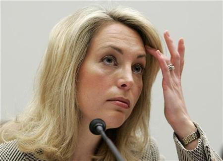 Former CIA employee Valerie Plame Wilson testifies at a House Oversight and Government Reform Committee hearing on Capitol Hill, March 16, 2007. Plame Wilson, whose unmasking led to the conviction of Vice President Dick Cheney's top aide, is suing the Central Intelligence Agency, accusing it of unconstitutionally interfering with publication of her memoir. REUTERS/Larry Downing