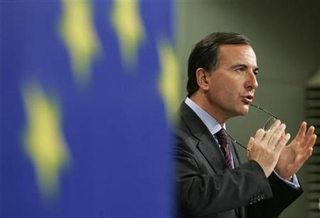 EU Justice and Security Commissioner Franco Frattini in Brussels, May 16, 2007. The word of anonymous witnesses is not enough to prove that the CIA ran secret prisons in Poland and Romania, Frattini said in an interview. REUTERS/Thierry Roge