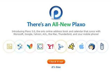 A screenshot of Plaxo.com, taken on June 25, 2007. Plaxo, which makes software for PC users to keep address books up-to-date, said on Sunday it is helping millions of members open up their online datebooks to build social networks like MySpace or Facebook. REUTERS/www.plaxo.com
