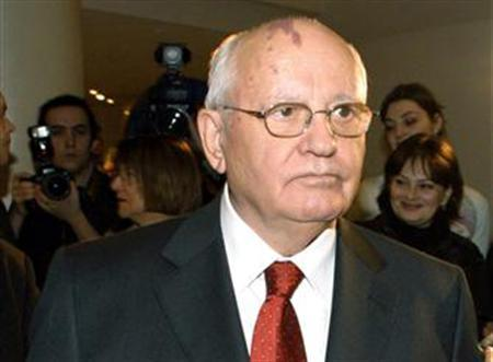 Former Soviet leader Mikhail Gorbachev attends a concert in Moscow's Musical Centre, March 1, 2006. Gorbachev criticized the United States, and current President George W. Bush in particular, on Friday for sowing disorder across the world by seeking to build an empire. REUTERS/Dmitry Lekay/Kommersant