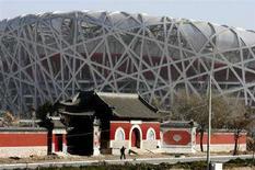 <p>Un'immagine dello stadio di Pechino costruito per le Olimpiadi del 2008. REUTERS/Jason Lee</p>