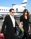 <p>Il presidente francese Nicolas Sarkozy con Carla Bruni al loro arrivo oggi a Luxor. REUTERS/ Ahmed Ali</p>