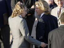 <p>I due figli del presidente Nicolas Sarkozy Jean (a destra) e Pierre (a sinistra). REUTERS/Ludovic/Pool</p>