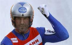 <p>Il campione italiano di slittino Armin Zoeggeler. REUTERS/Fabrizio Bensch (GERMANY)</p>