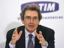 <p>L'amministratore delegato di Telecom Italia Franco Bernabé in una conferenza stampa a Brasilia il 17 gennaio 2008. REUTERS/Jamil Bittar</p>