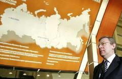 <p>Министр финансов РФ Алексей Кудрин на экономическом форуме в Красноярске 15 февраля 2008 года. Мировой финансовый кризис не сможет существенно подорвать развитие российской экономики, которая в этом году вырастет не менее чем на 7 процентов после прошлогодних 8,1 процента, сказал Кудрин. (REUTERS/Ilya Naymushin)</p>