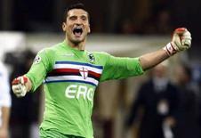 <p>Il portiere della Sampdoria Luca Castellazzi. REUTERS/Stefano Rellandini</p>