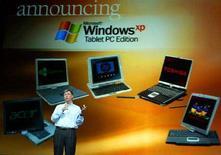 <p>Un presentazione del fondatore di Microsoft Bill Gates in una foto d'archivio. REUTERS PICTURE</p>