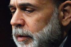 <p>Immagine d'archivio del presidente della Federal Reserve, Ben Bernanke. REUTERS/Jonathan Ernst/Files (UNITED STATES)</p>