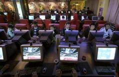 <p>Les autorités chinoises ne garantiront pas qu'elles n'opèreront pas de censure sur le réseau internet au moment des Jeux olympiques cet été à Pékin, pas plus qu'elles ne garantissent d'éradiquer le piratage des produits dérivés des JO. /Photo d'archives/REUTERS/Simon Zo</p>
