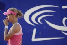 <p>Российская теннисистка Елена Дементьева на турнире German Open в Берлине 9 мая 2008 года. Российская теннисистка Елена Дементьева обыграла соотечественницу Веру Душевину в третьем круге турнира в Берлине с призовым фондом 1,34 миллиона долларов (REUTERS/Tobias Schwarz)</p>