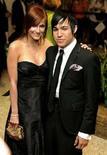 <p>La cantante Ashlee Simpson e il neo-marito Pete Wentz in un'immagine dello scorso aprile. REUTERS/Mike Theiler</p>