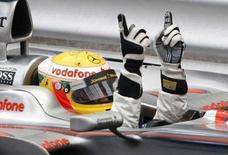 <p>Il pilota di Formula Uno della McLaren Lewis Hamilton. REUTERS/Stefano Rellandini (MONACO)</p>