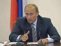 <p>Премьер-министр России Владимир Путин на первом заседании президиума правительства в Москве 26 мая 2008 года. Россия направит более $25 миллиардов из доходов, порожденных высокими ценами на нефть, на научные исследования, чтобы помочь модернизации экономики и усилить позиции в глобальной технологической и интеллектуальной конкуренции, сказал премьер-министр Владимир Путин. (REUTERS/RIA Novosti/Pool)</p>
